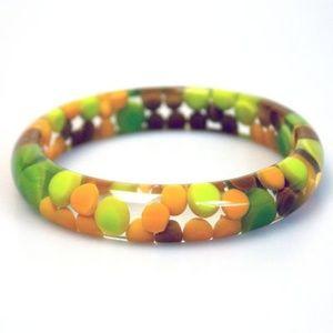 Multi-Color Acrylic Bangle
